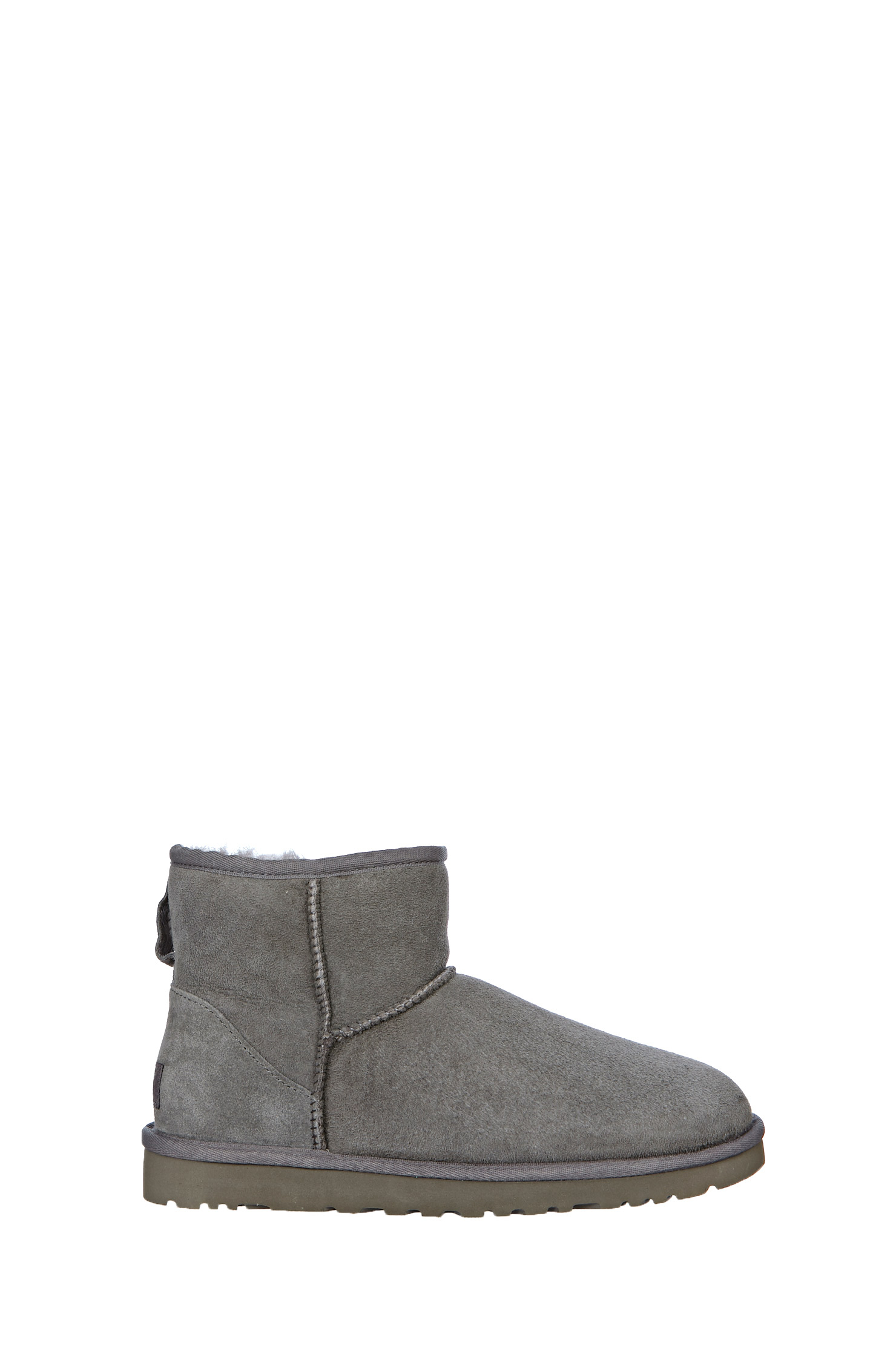 ugg boots w classic mini in gray lyst. Black Bedroom Furniture Sets. Home Design Ideas
