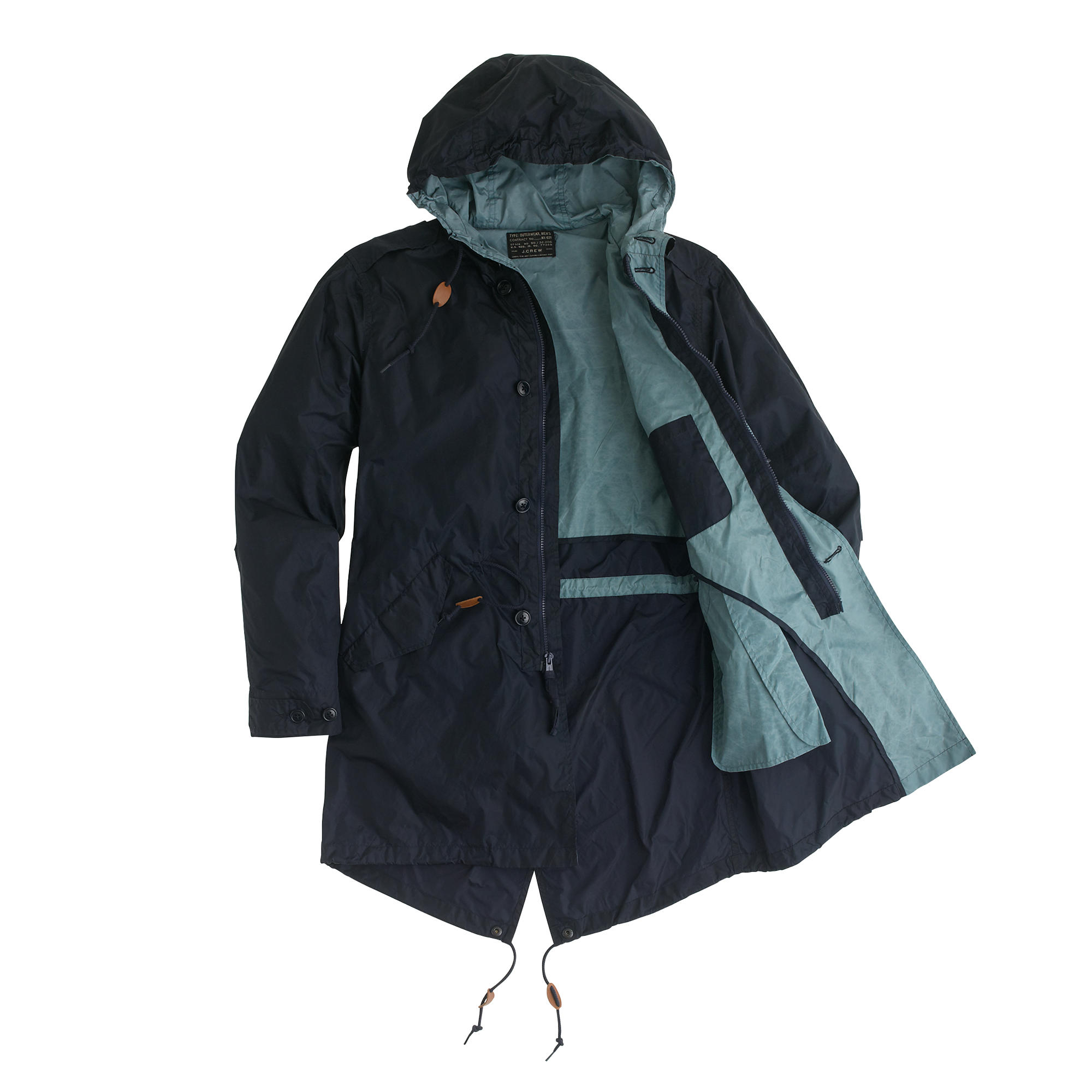 J.crew Nylon Fishtail Anorak in Blue for Men | Lyst
