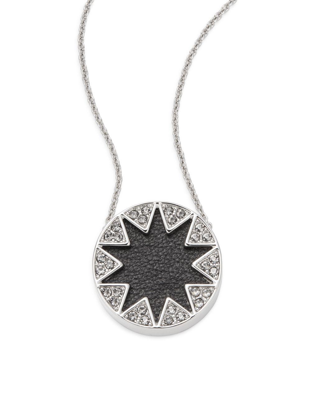 Lyst house of harlow 1960 mini leather sunburst pav pendant gallery mozeypictures Gallery