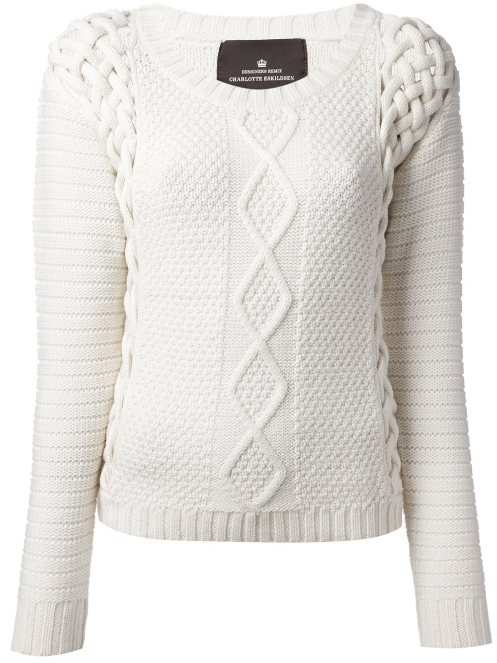 Designers remix Cable Knit Sweater in White | Lyst