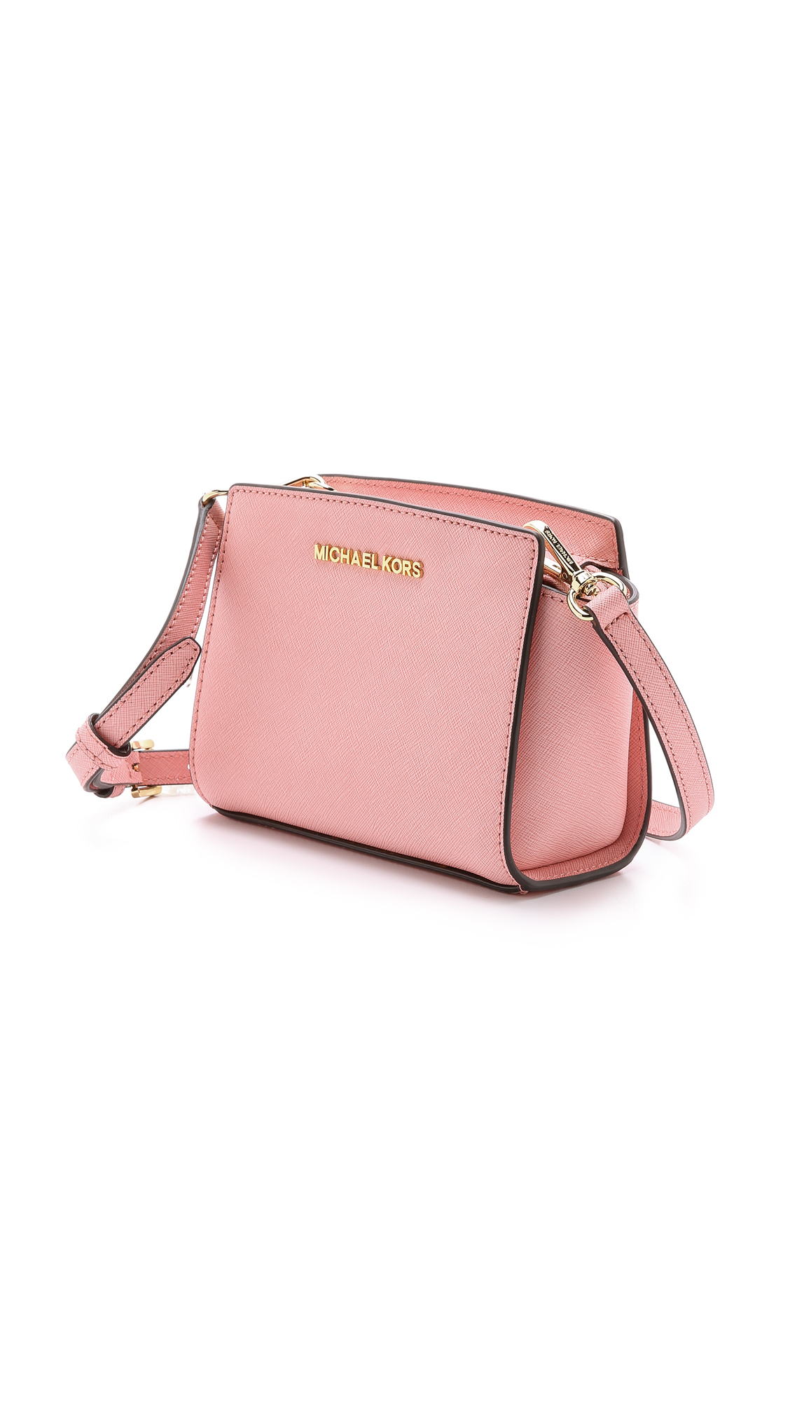 michael michael kors selma mini messenger bag pale pink in pink lyst. Black Bedroom Furniture Sets. Home Design Ideas