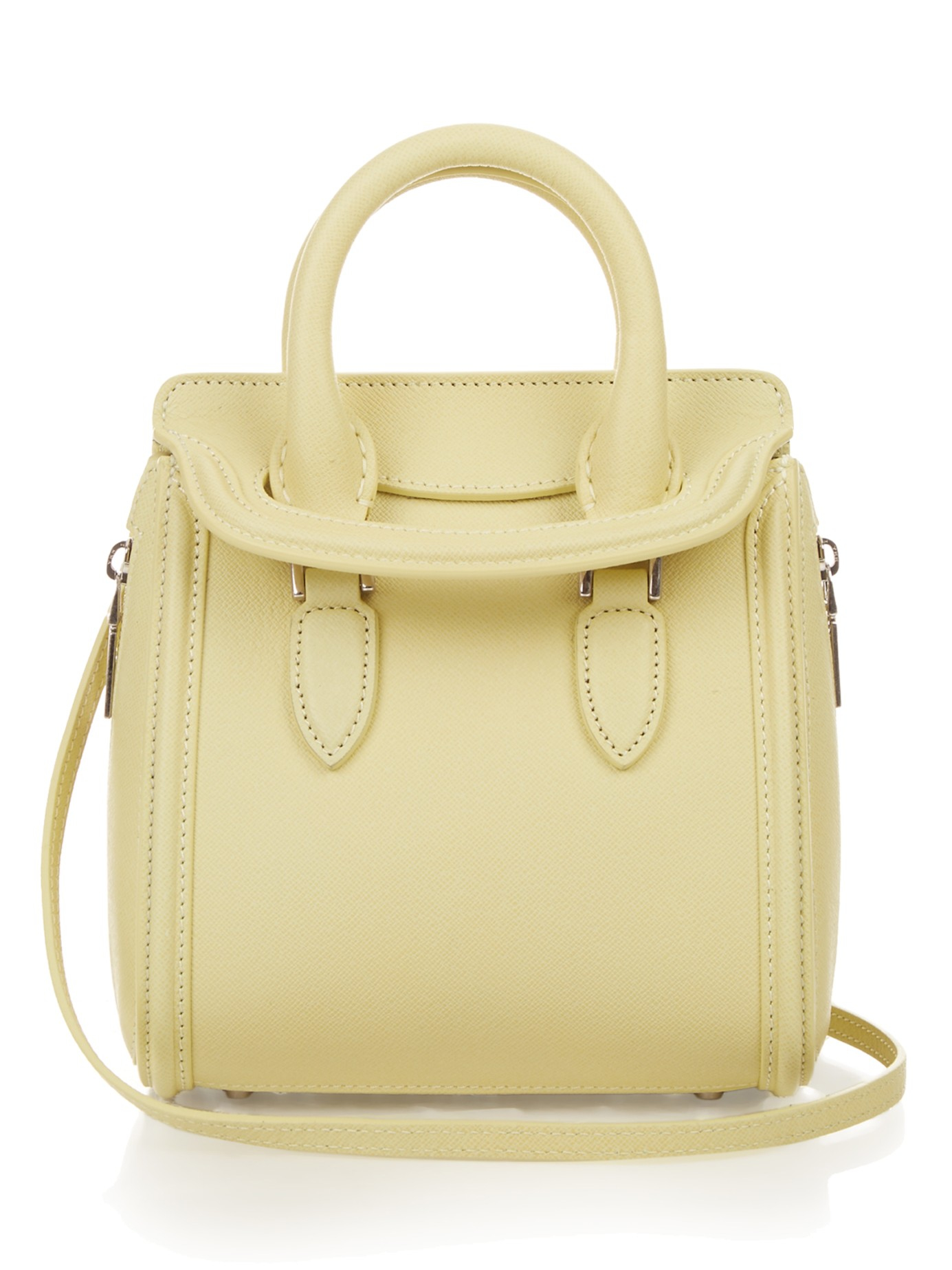 Alexander mcqueen Heroine Mini Grained-Leather Bag in ...