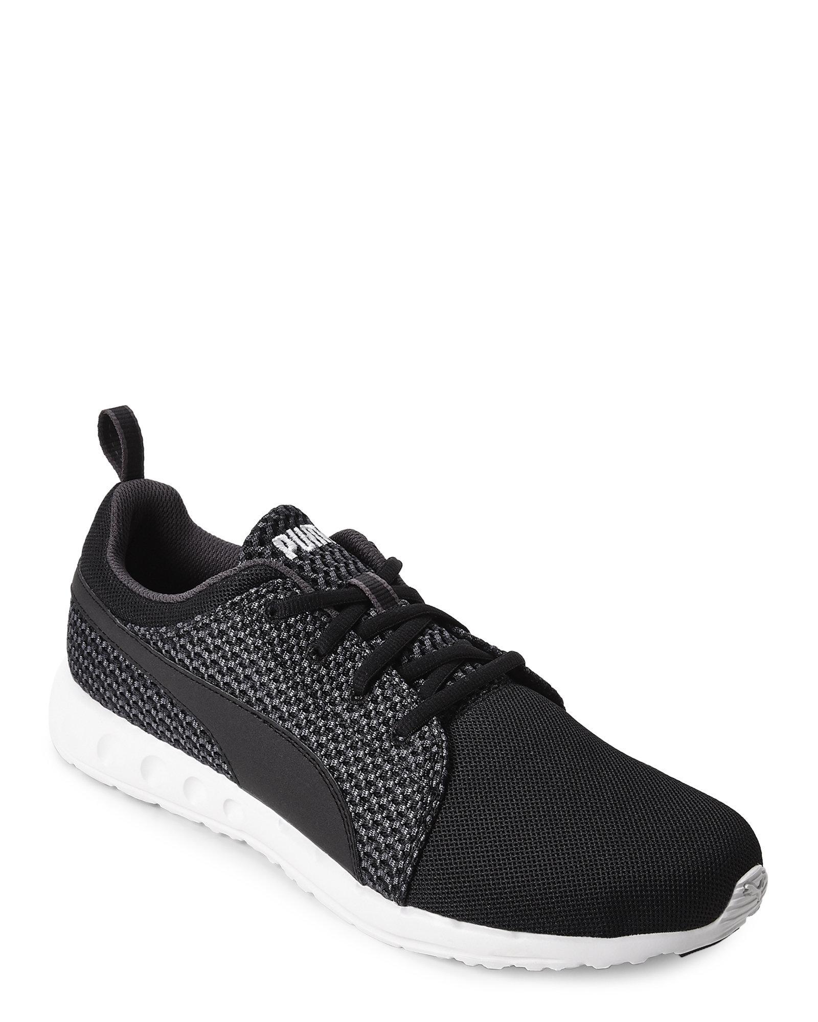 Lyst - PUMA Periscope   Black Carson Runner Knit Sneakers in Black ... 8aef5f156