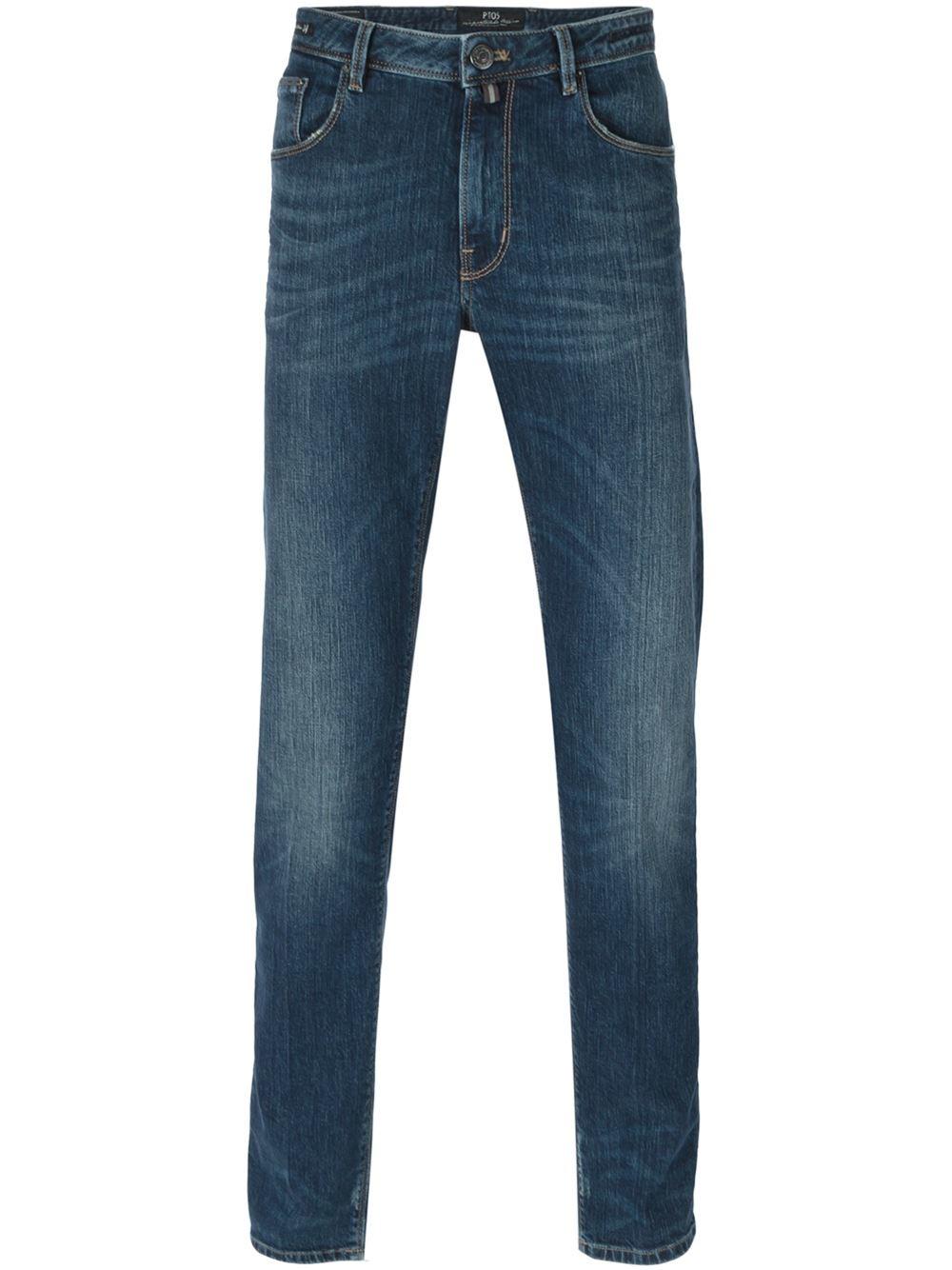 pt05 super slim fit jeans in blue for men lyst. Black Bedroom Furniture Sets. Home Design Ideas