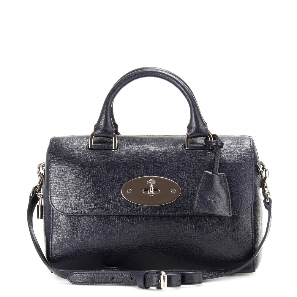 Lyst - Mulberry Small Del Rey Leather Tote in Blue 35d59caa6270e