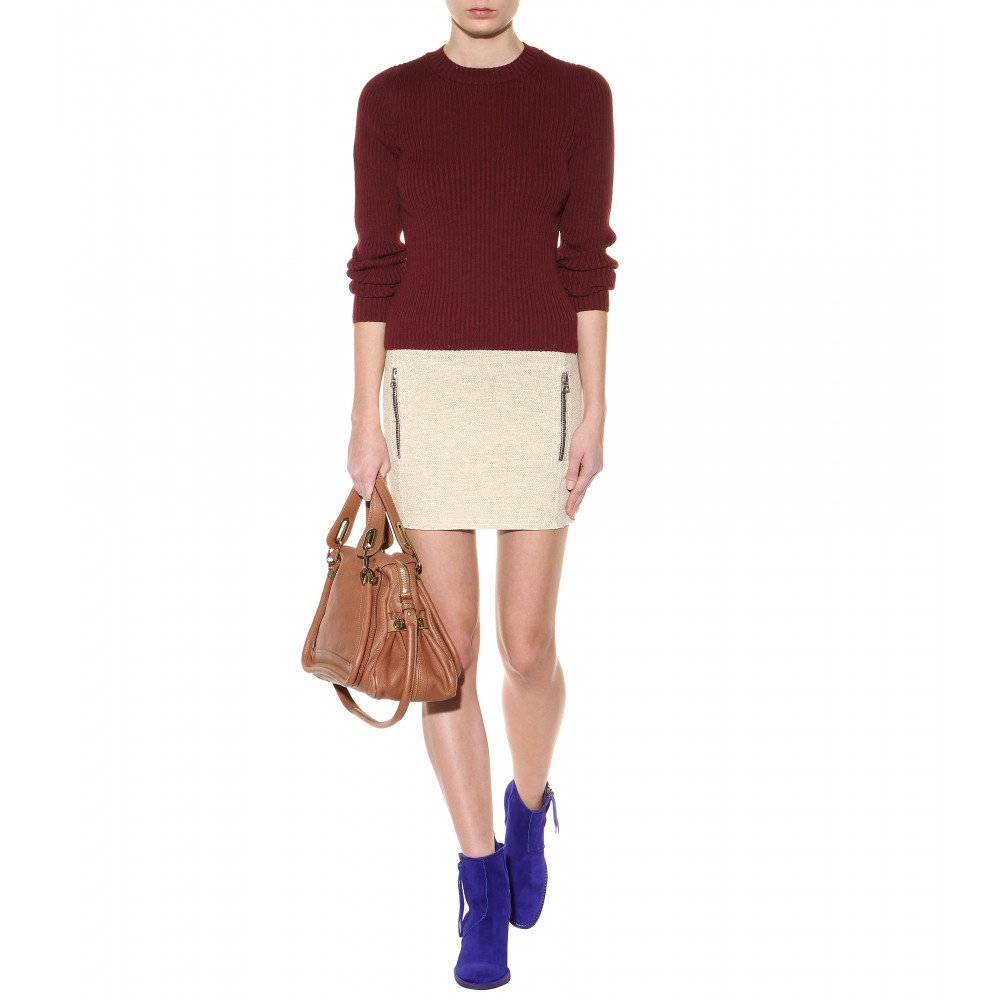 Chlo¨¦ Paraty Medium Leather Shoulder Bag in Brown (speculoos brown ...