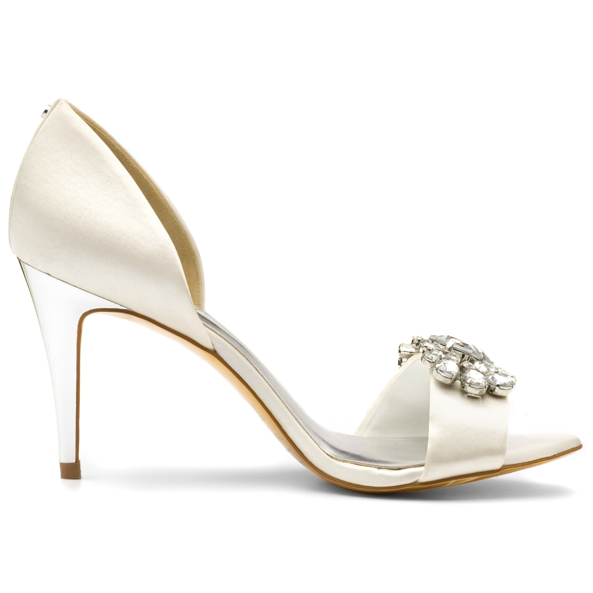250915250 Ted Baker Phinium Embellished D orsay High Heel Sandals in Metallic ...