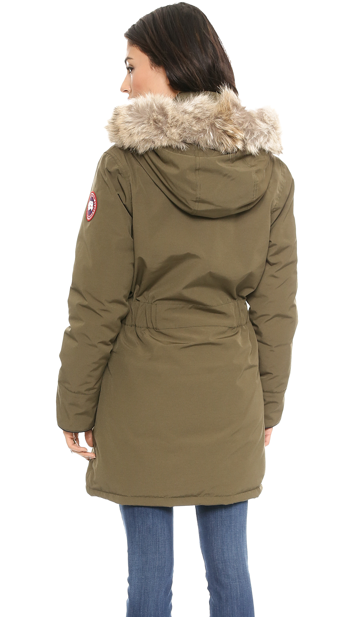 Canada Goose expedition parka online price - Canada goose Trillium Parka - Black in Green (Military Green) | Lyst