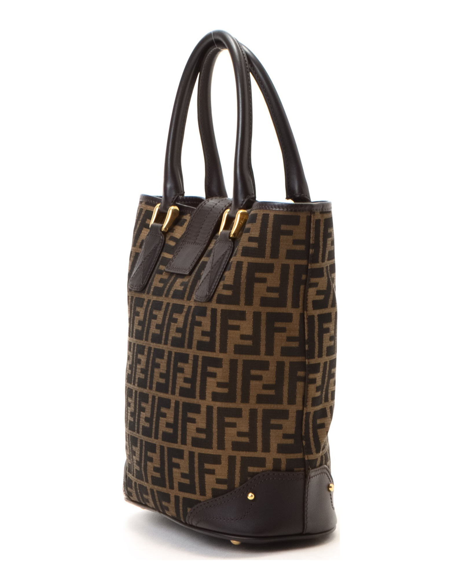 2c0ac937815 ... low price lyst fendi brown tote bag vintage in brown 3e1a2 26668