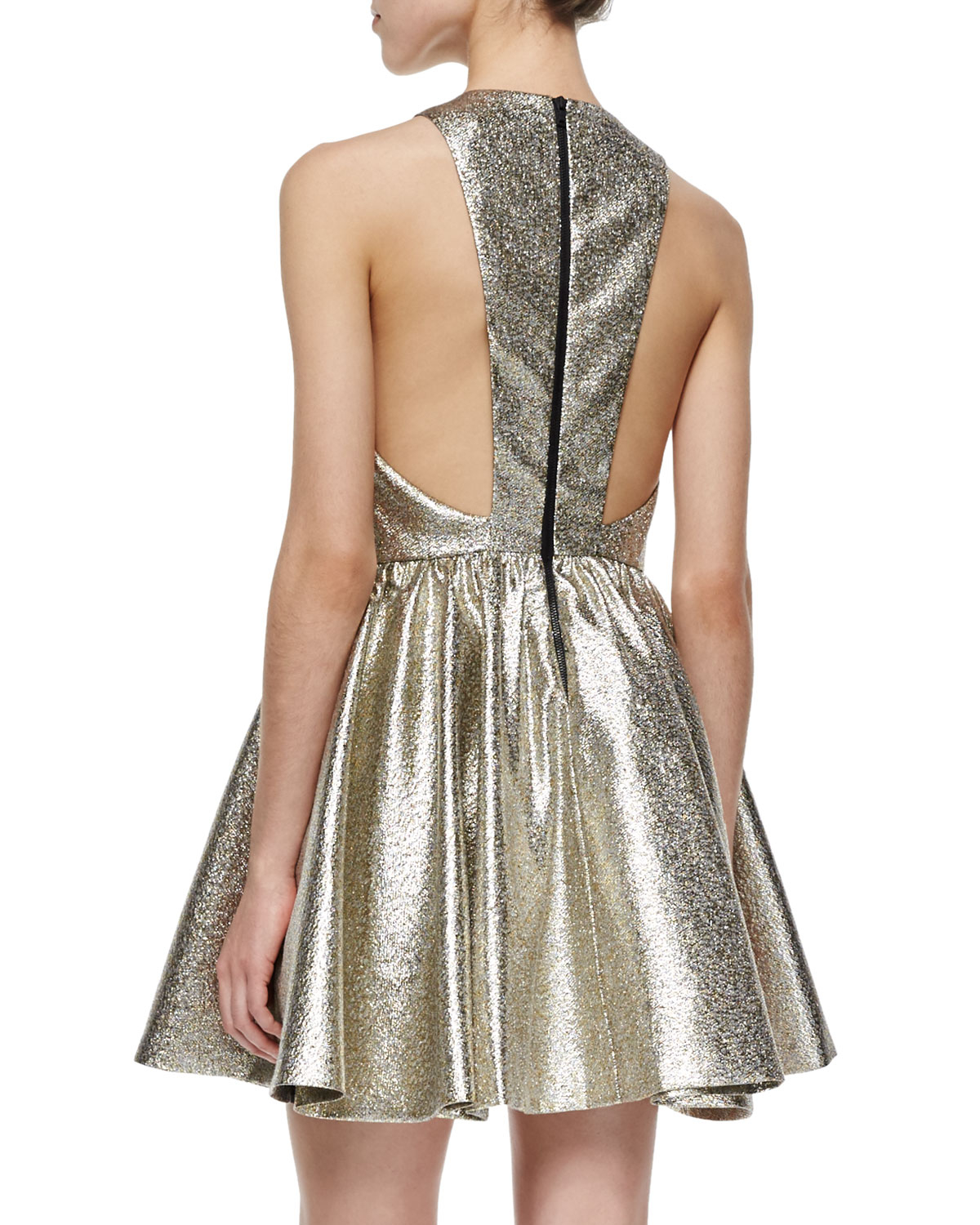 Lyst Alice Olivia Tevin Shimmery Racerback Party Dress