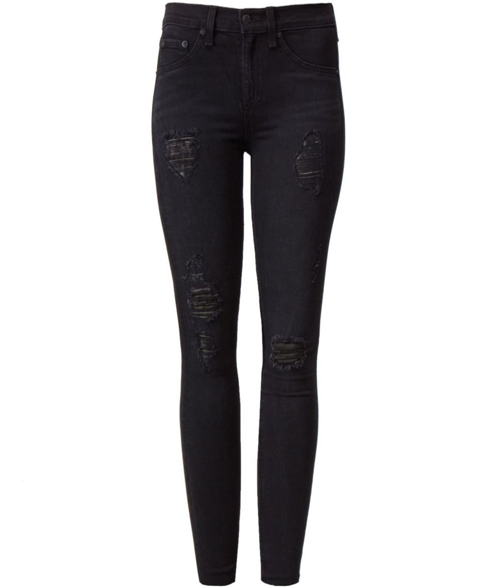 Rag And Bone Black Ripped Jeans Billie Jean