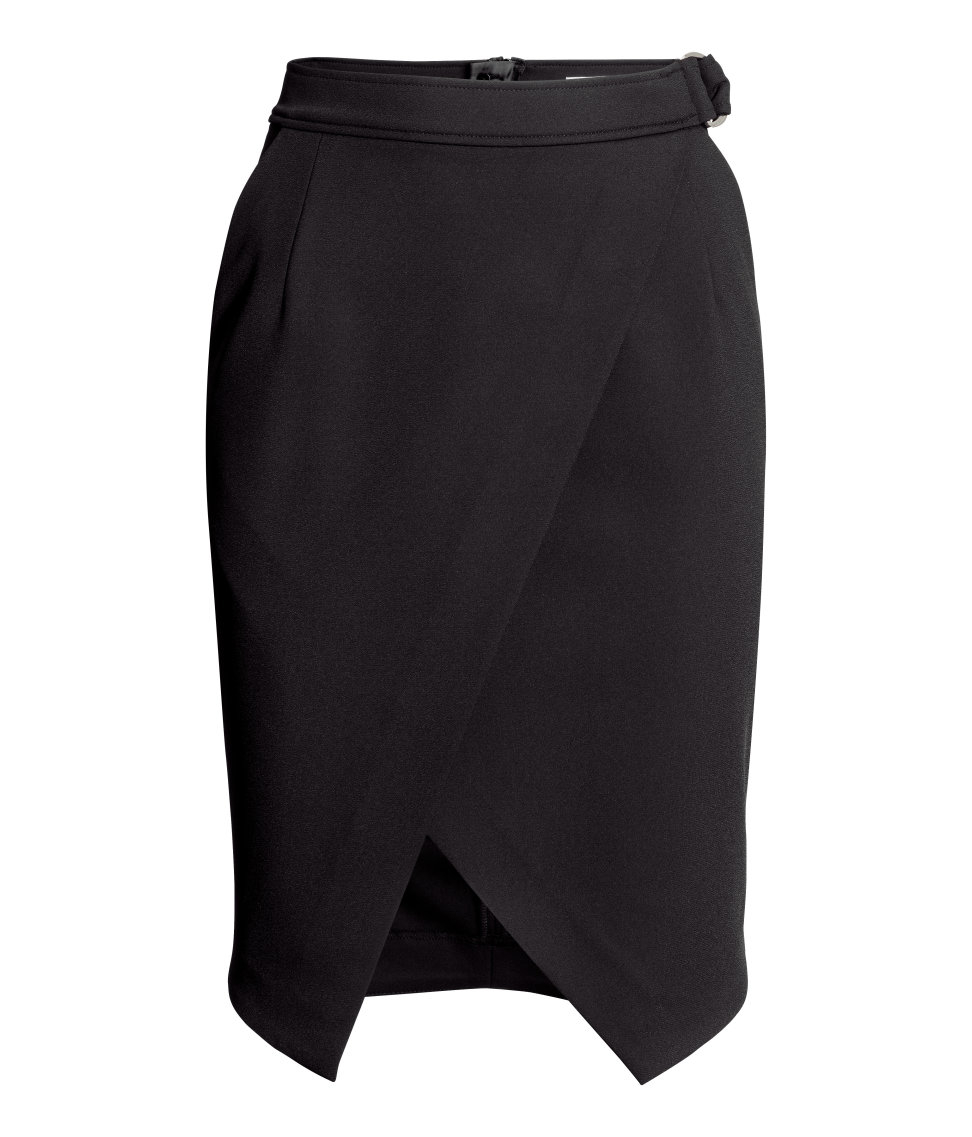 Wrap skirt black single