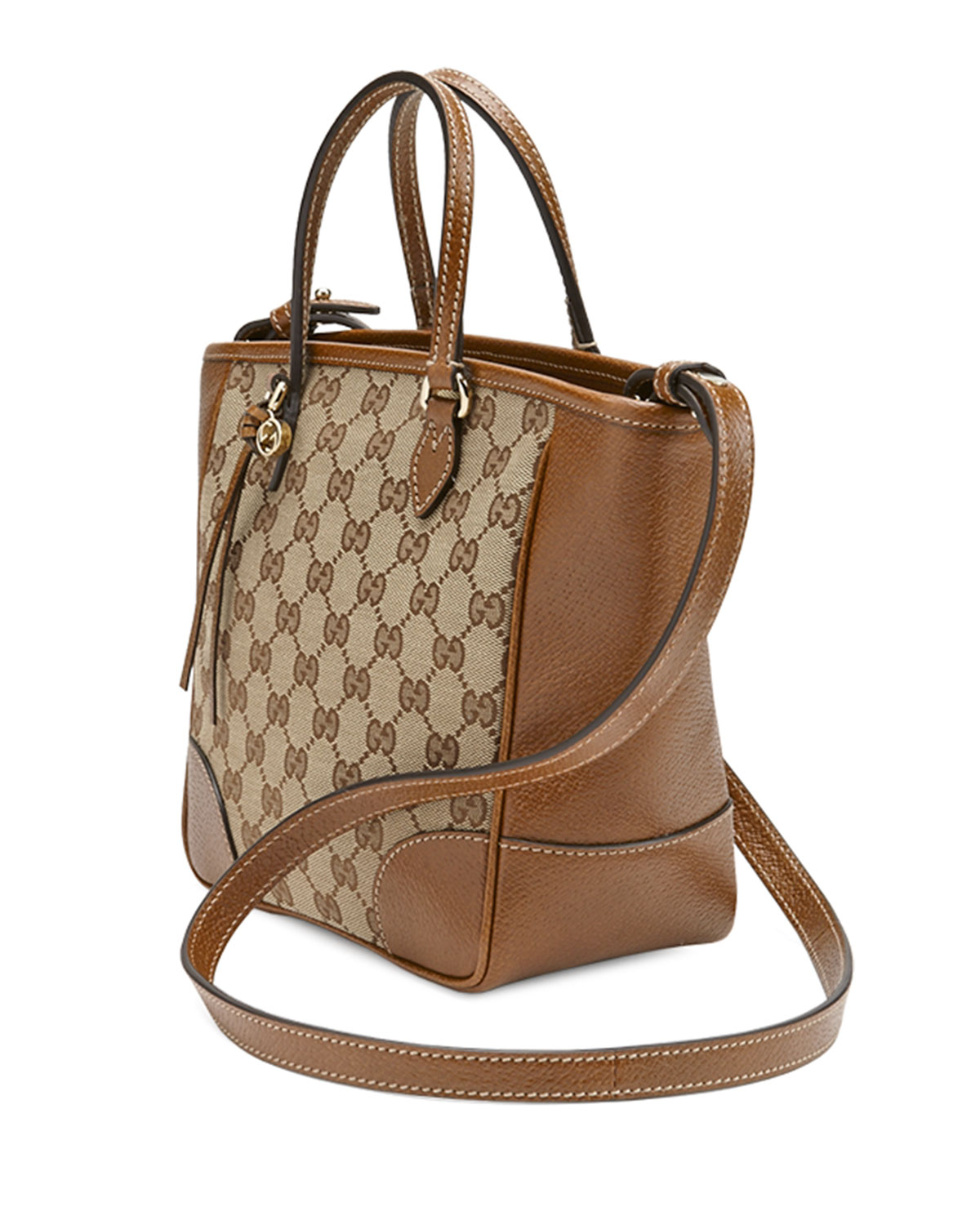 a22749464504 Lyst - Gucci Bree Small Gg Canvas Tote Bag in Brown