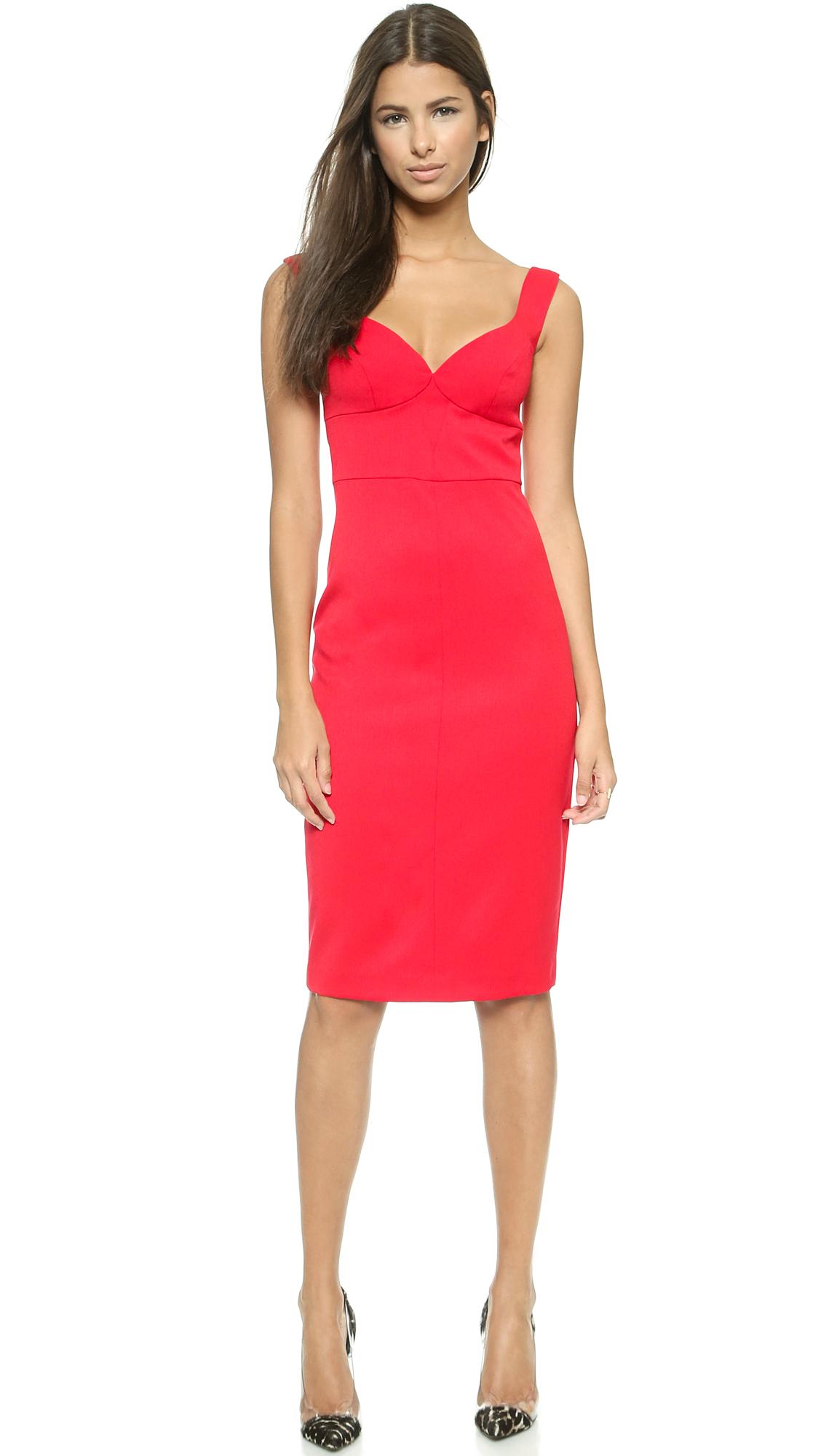0fae793a33fb Lyst - Black Halo Ally Sheath Dress in Red
