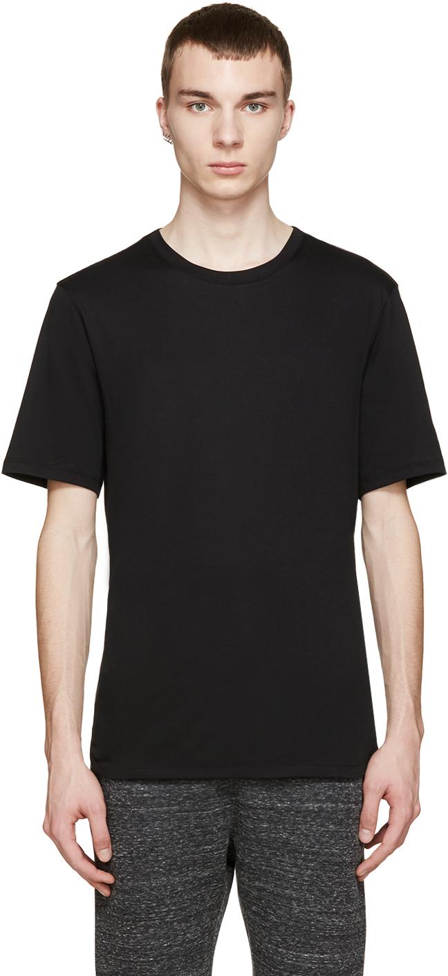 Helmut lang black crewneck t shirt in black for men lyst for Helmut lang tee shirts