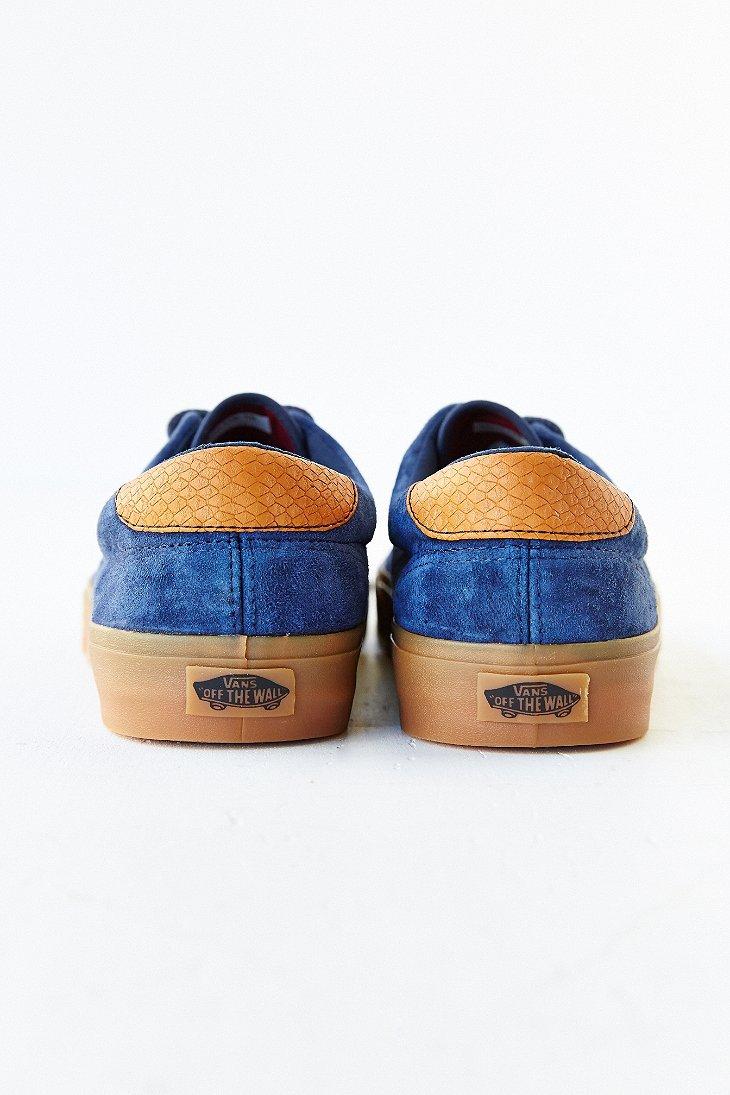vans era suede gum sole shoes