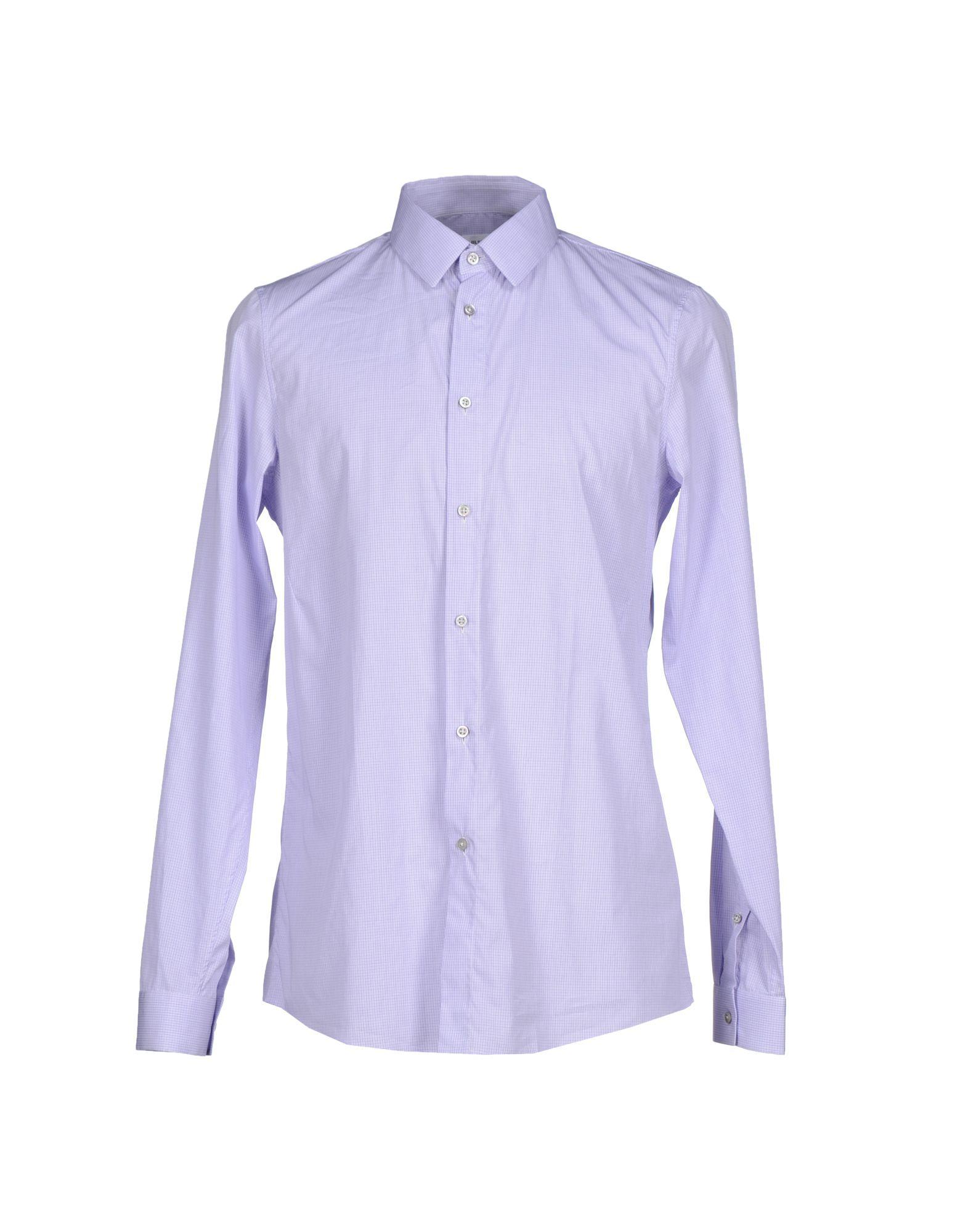 Jil sander shirt in purple for men lyst for Jil sander mens shirt