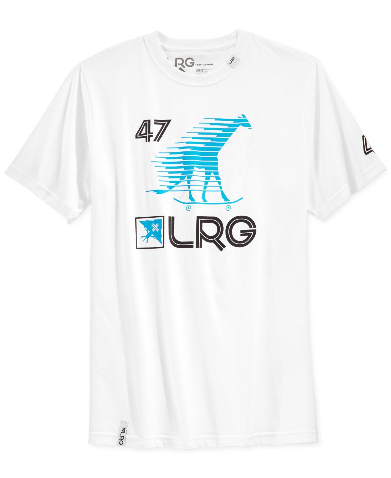 Lrg Skate Giraffe Graphic T Shirt In White For Men Lyst