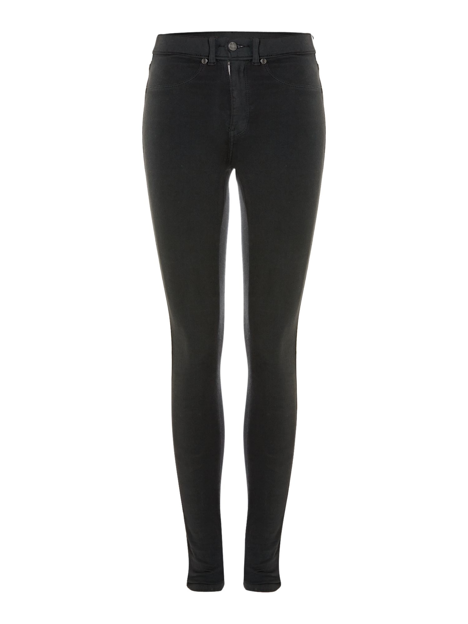 Dr. denim The Plenty High Waist Jeans in Black Coated in Black | Lyst