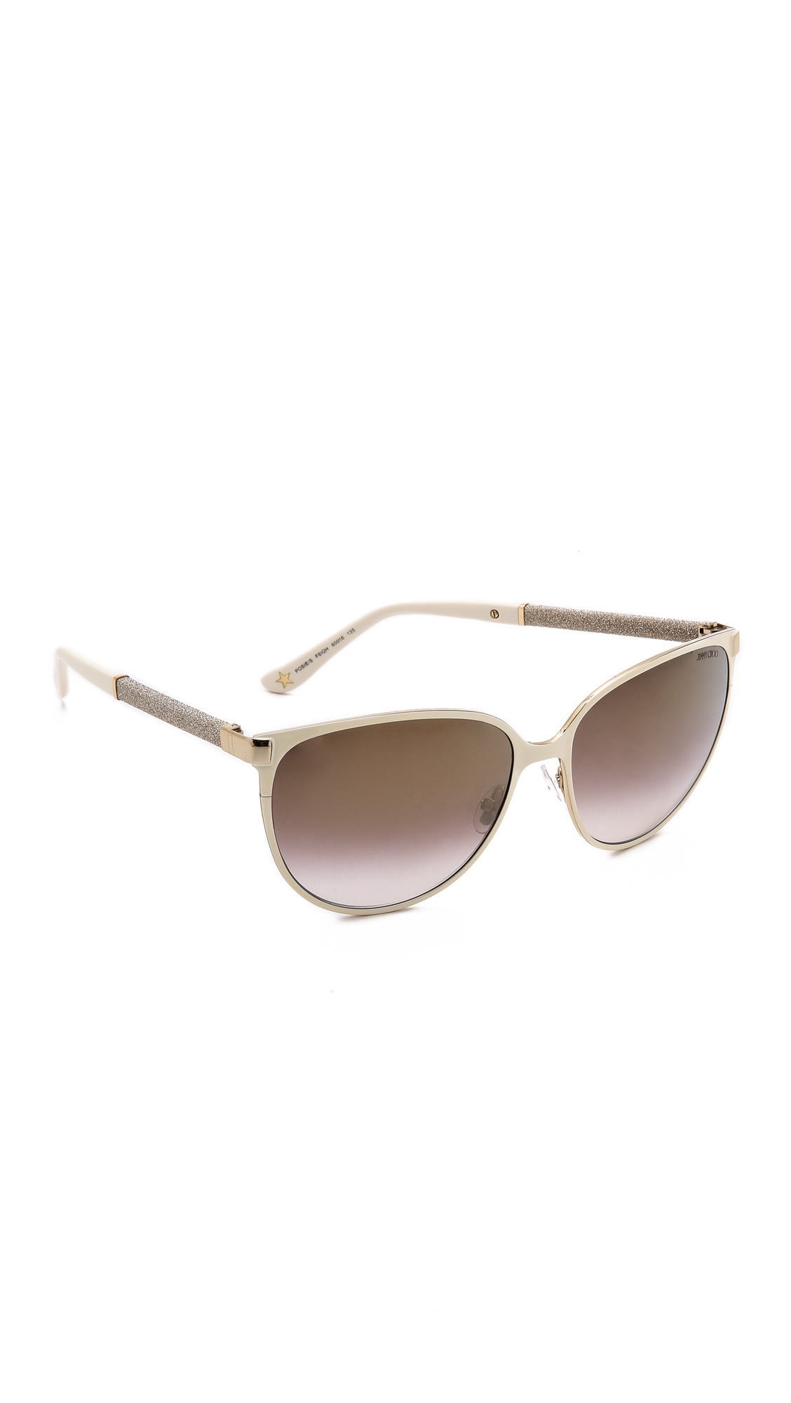 4e1ab5f5190 Lyst - Jimmy Choo Posie Sunglasses - Ivory brown in White