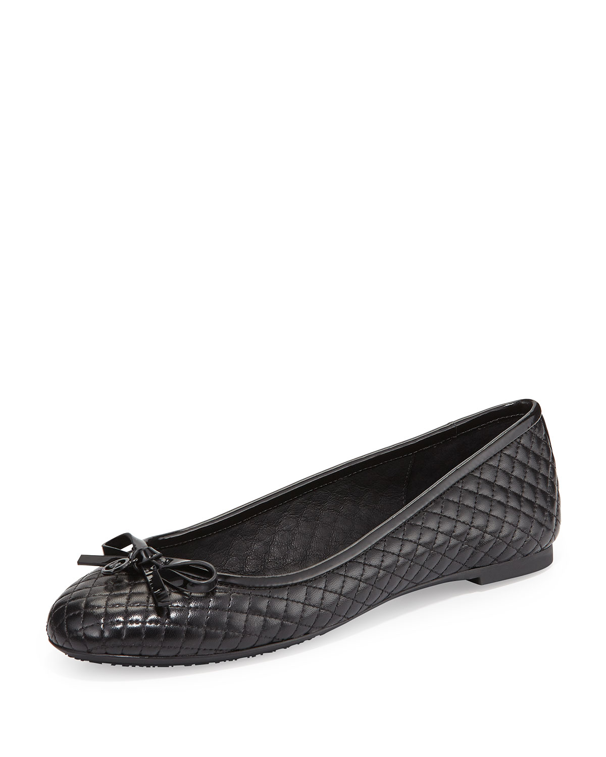 e56f92ace37b Lyst - MICHAEL Michael Kors Melody Quilted Ballet Flats in Black