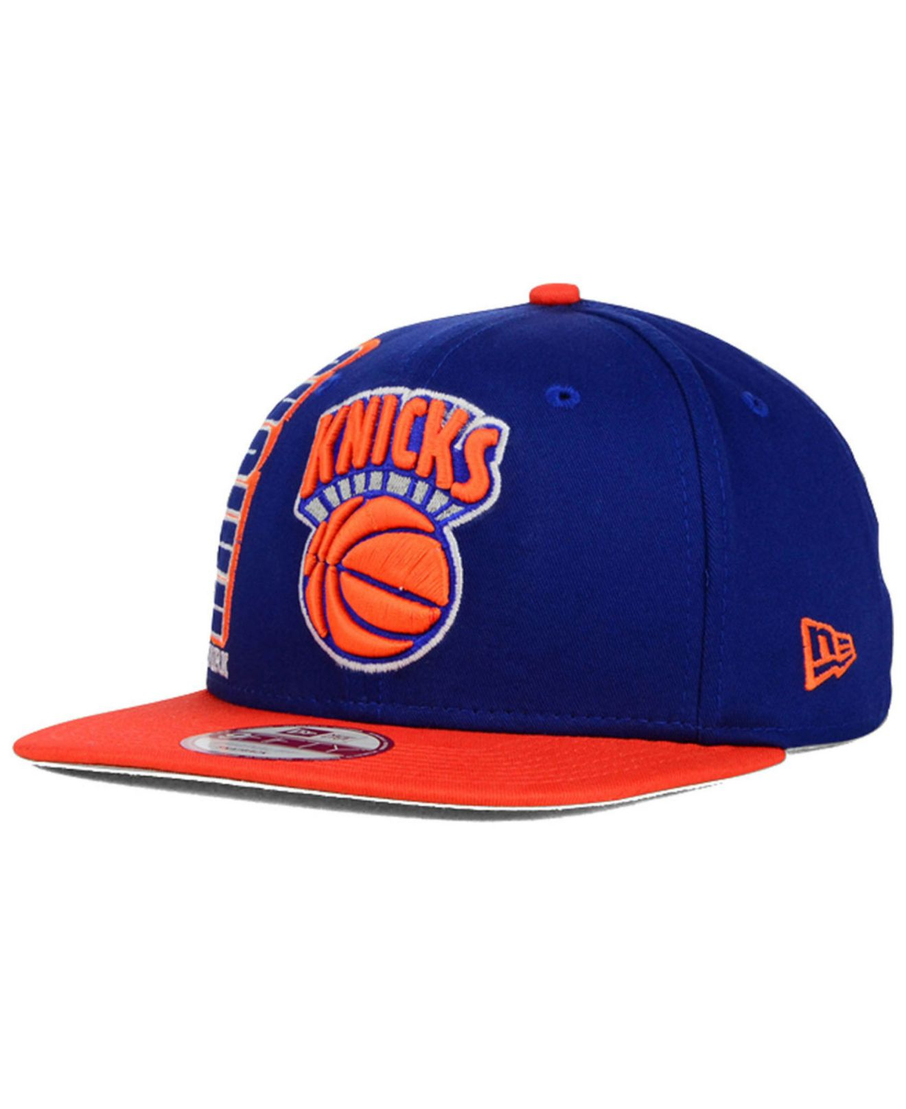 0738cf9c5f9 Lyst - KTZ New York Knicks Rally Mark 9fifty Snapback Cap in Blue ...