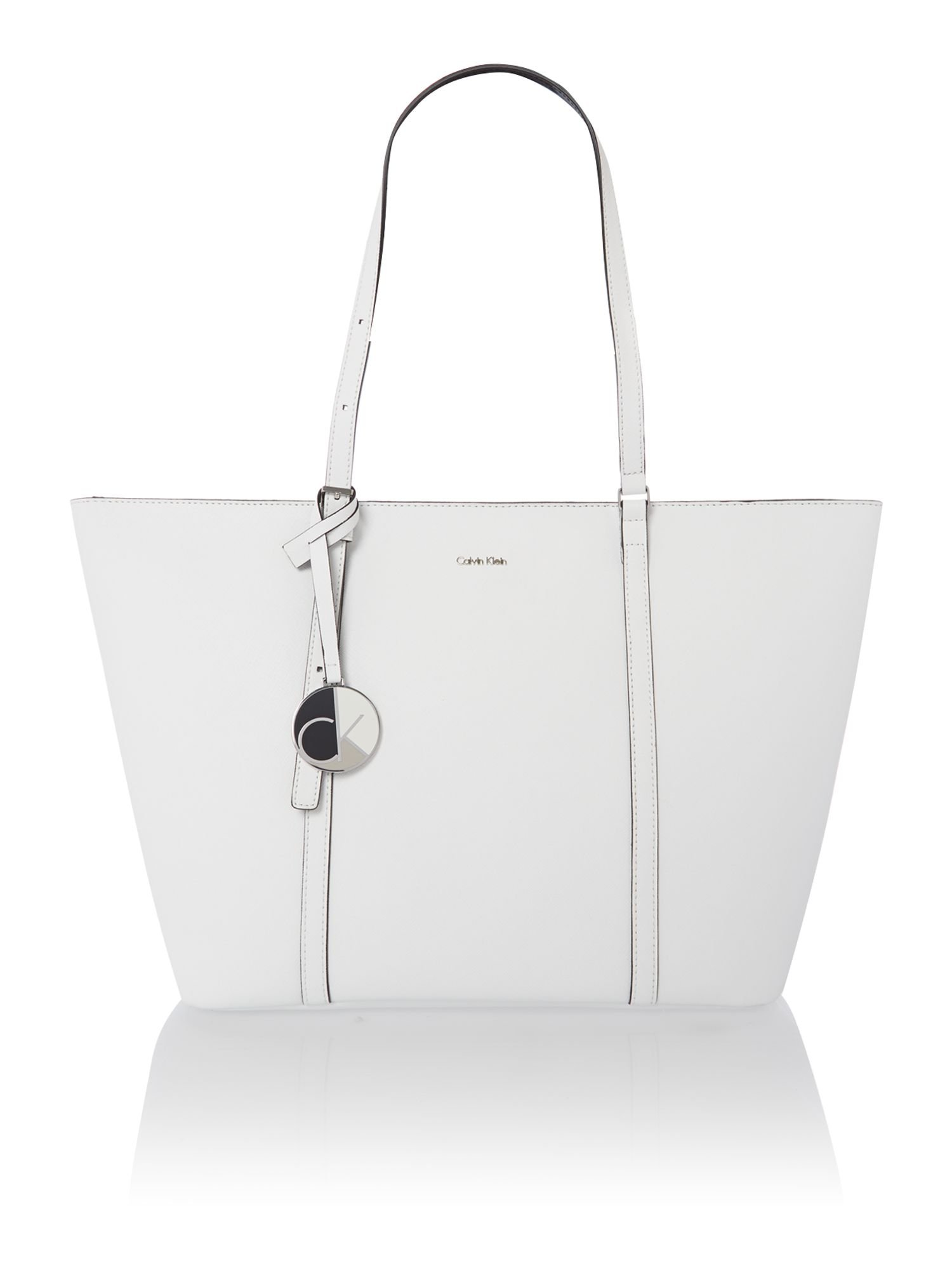 Calvin klein Sophie Large White Tote Bag in White | Lyst
