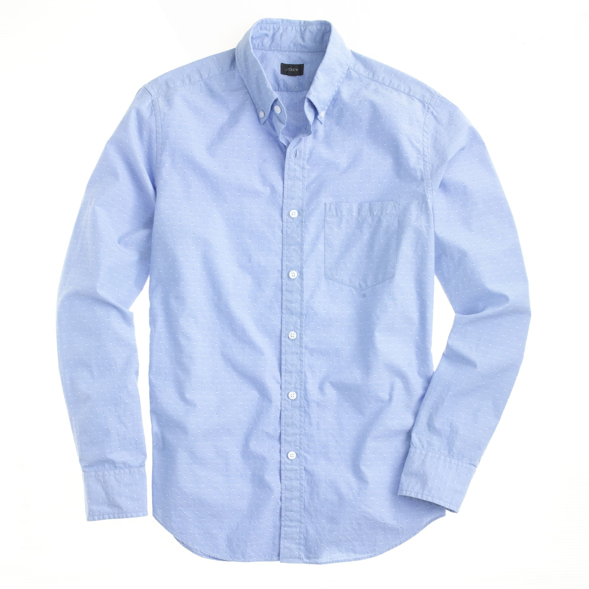 J.crew Slim Cotton Shirt in Woven Arrows in Blue for Men | Lyst