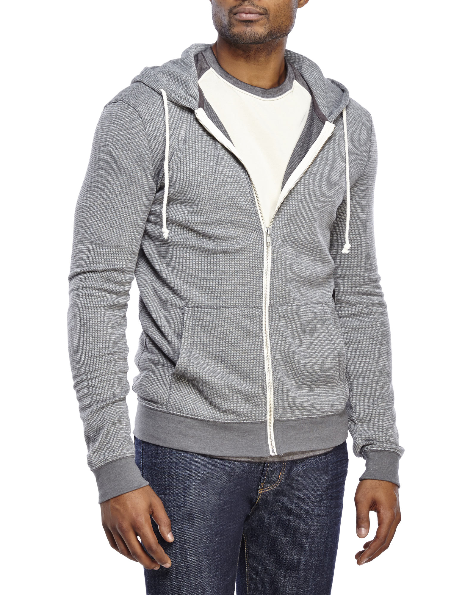 Lyst - Threads For Thought Thermal Zip-Up Hoodie in Metallic for Men 5eb1c5e9271