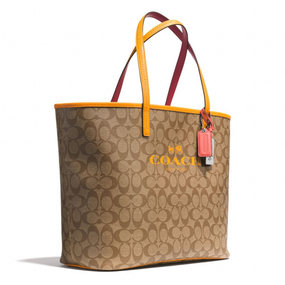 Lyst Coach Tote In Signature C Coated Canvas In Brown