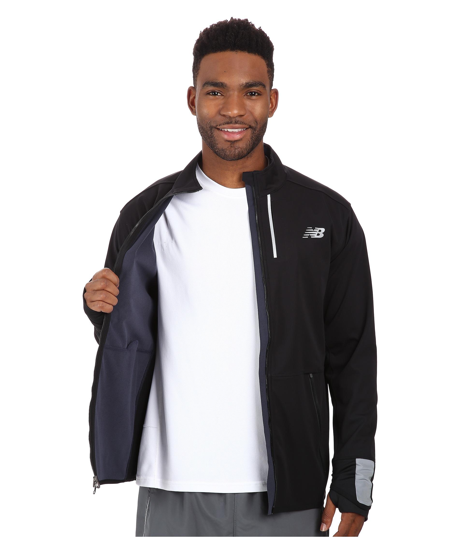 55aeaacfc1e1f New Balance Windblocker Jacket in Black for Men - Lyst