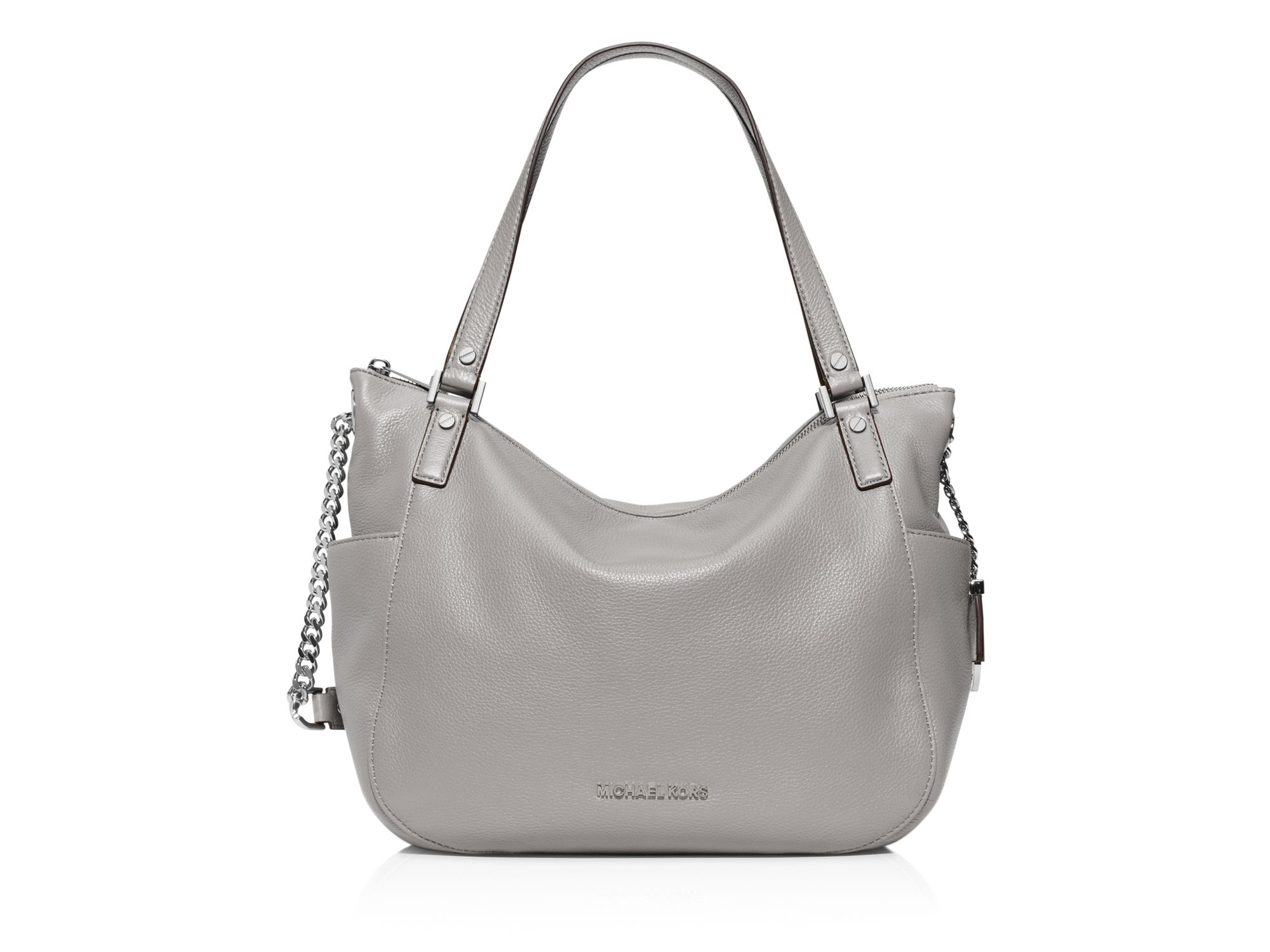 e0c12ab87311 Lyst - MICHAEL Michael Kors Chandler Large Shoulder Bag in Gray