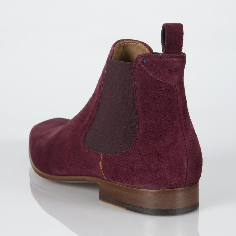 91da2867424b Lyst - Paul Smith Burgundy Suede  Falconer  Chelsea Boots in Purple ...
