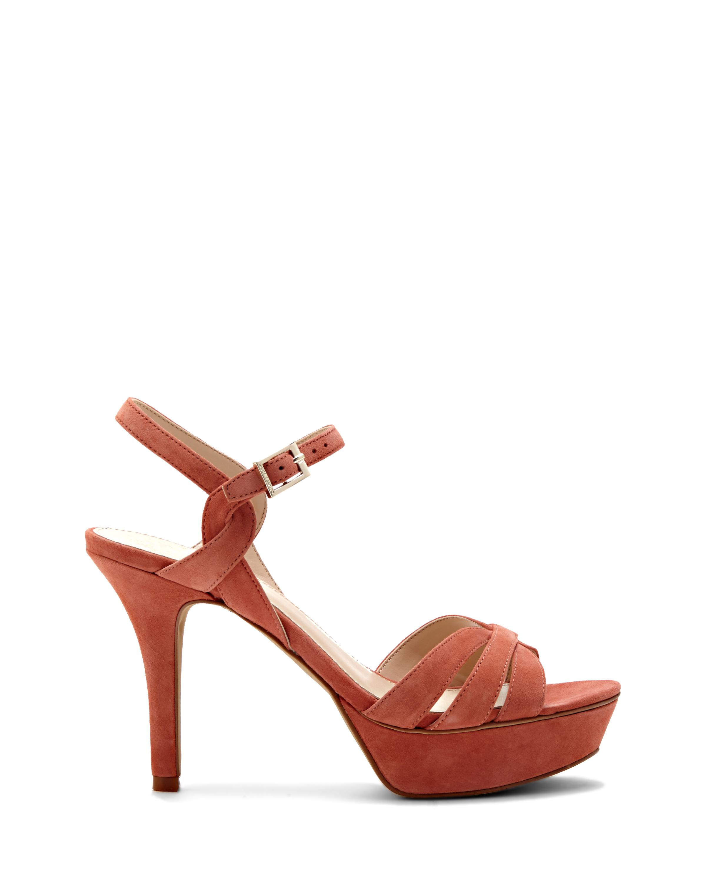 a13b771ca43 Lyst - Vince Camuto Peppa - Strappy Platform Sandal in Orange