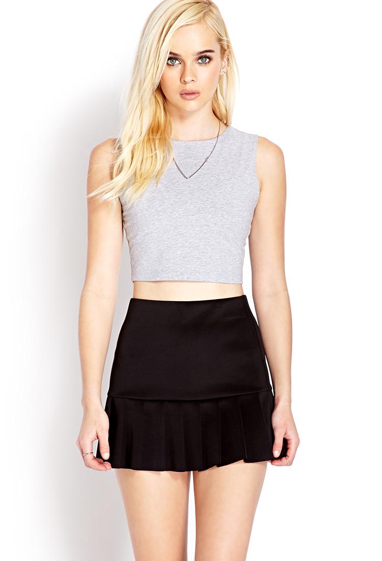 Forever 21 Flirty Pleated Mini Skirt in Black | Lyst
