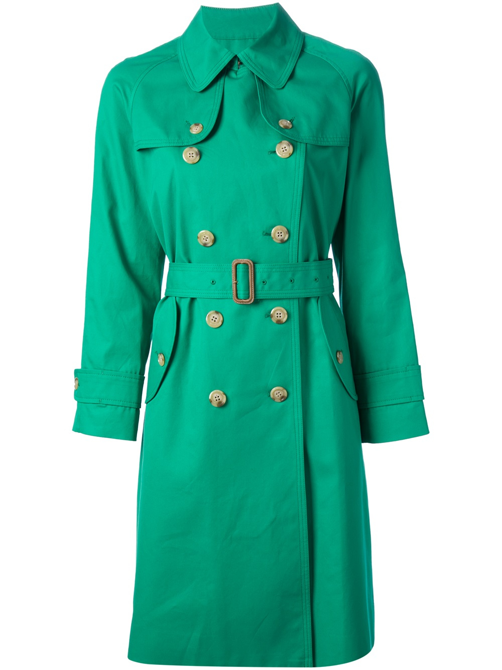 tsumori chisato venise long trench coat in green lyst. Black Bedroom Furniture Sets. Home Design Ideas