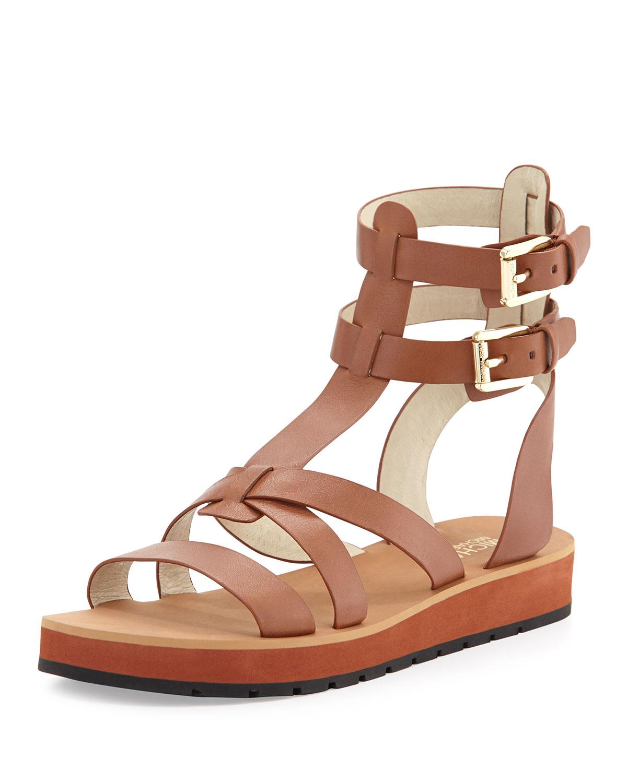 013353d4fbd8 Lyst - MICHAEL Michael Kors Judie Vachetta Gladiator Sandal in Brown