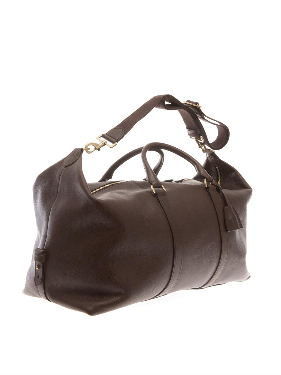 ef0b30840a8c Lyst - Mulberry Clipper Leather Weekend Bag in Brown for Men