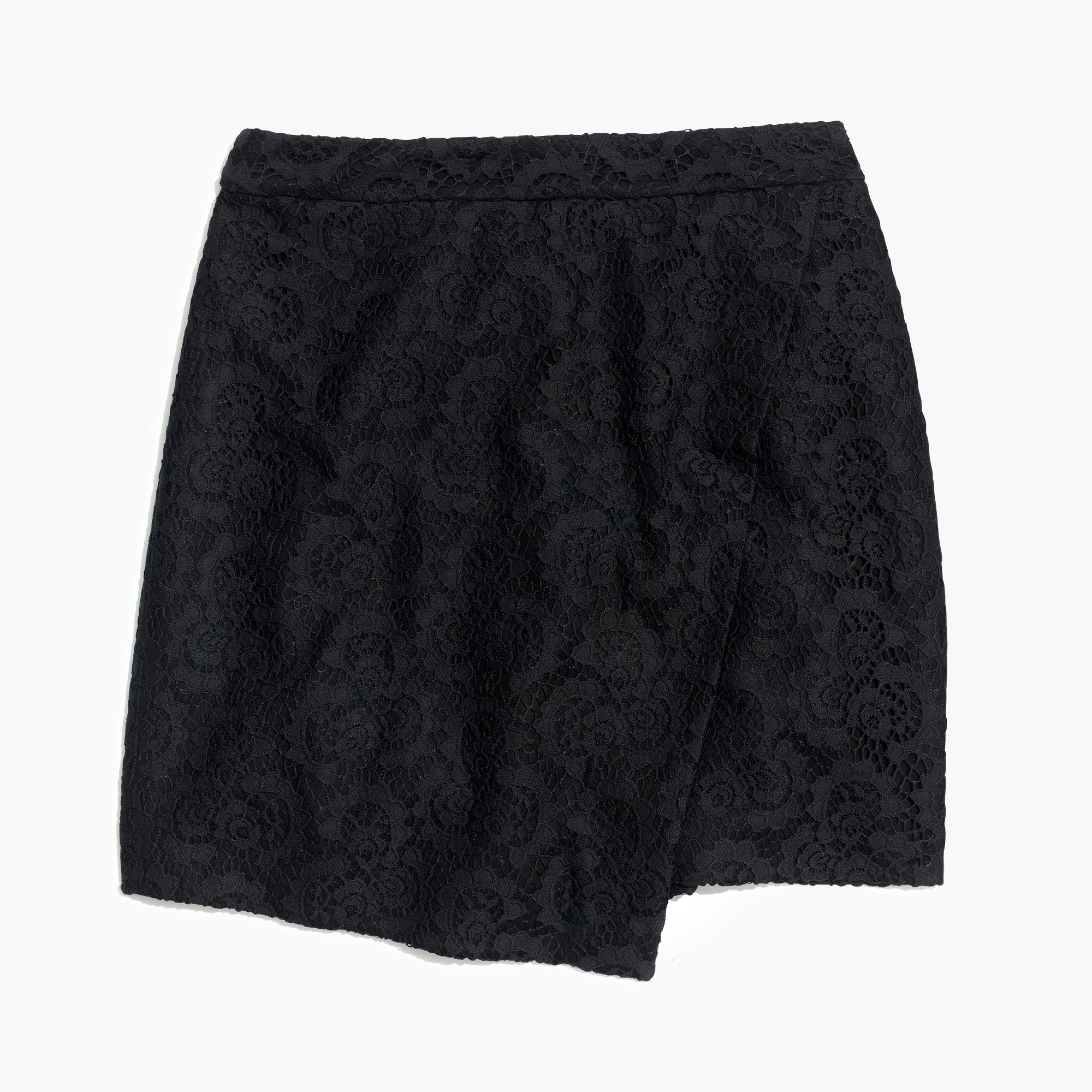 Madewell Lace Asymmetrical Mini Skirt in Black | Lyst
