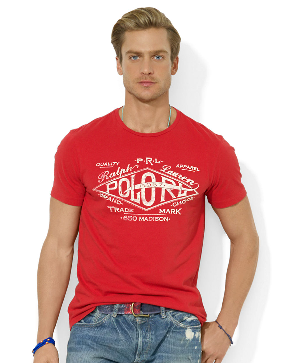 polo ralph lauren classic fit graphic jersey t shirt in. Black Bedroom Furniture Sets. Home Design Ideas
