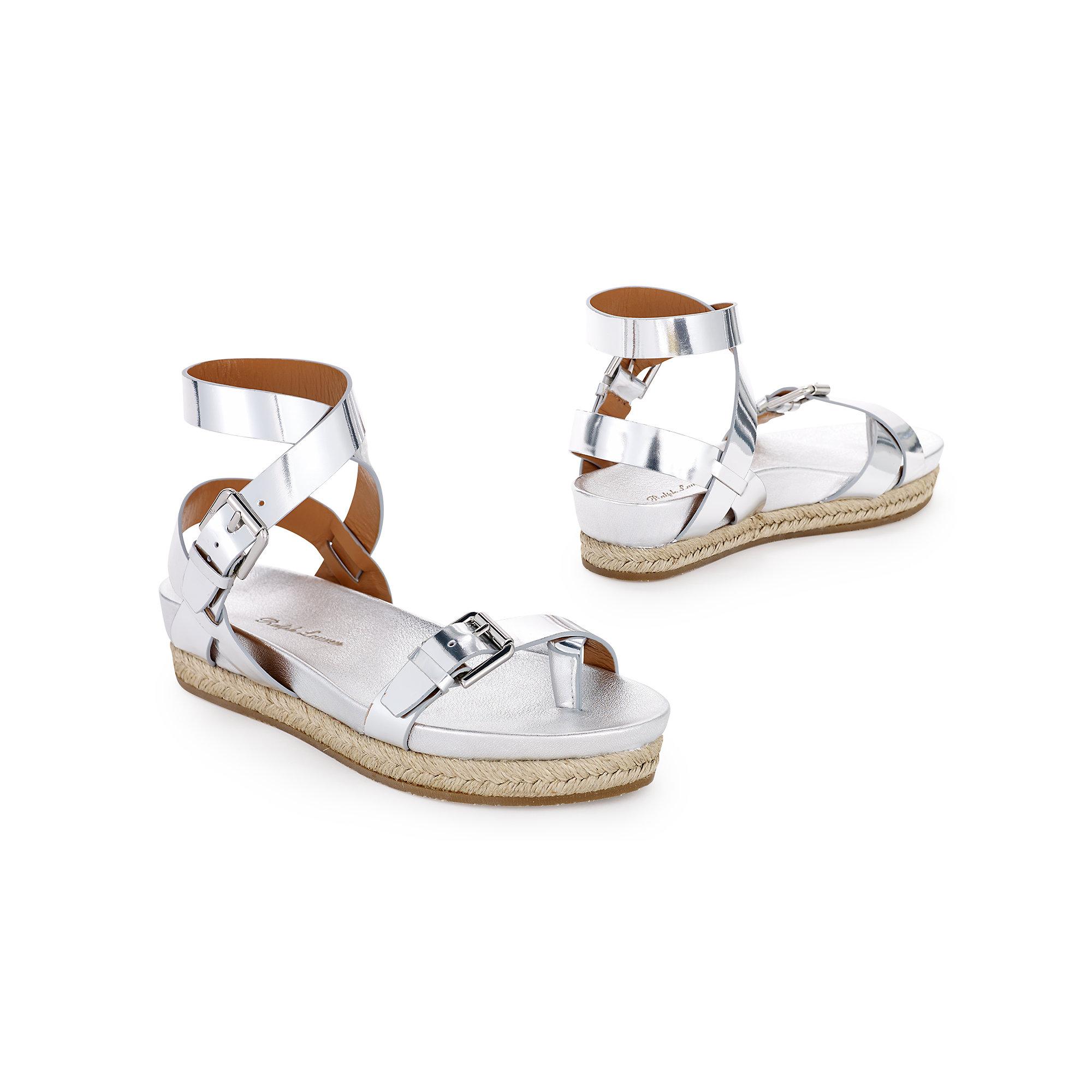 b266b15a5 Lyst - Ralph Lauren Specchio Raina Flat Sandal in Metallic