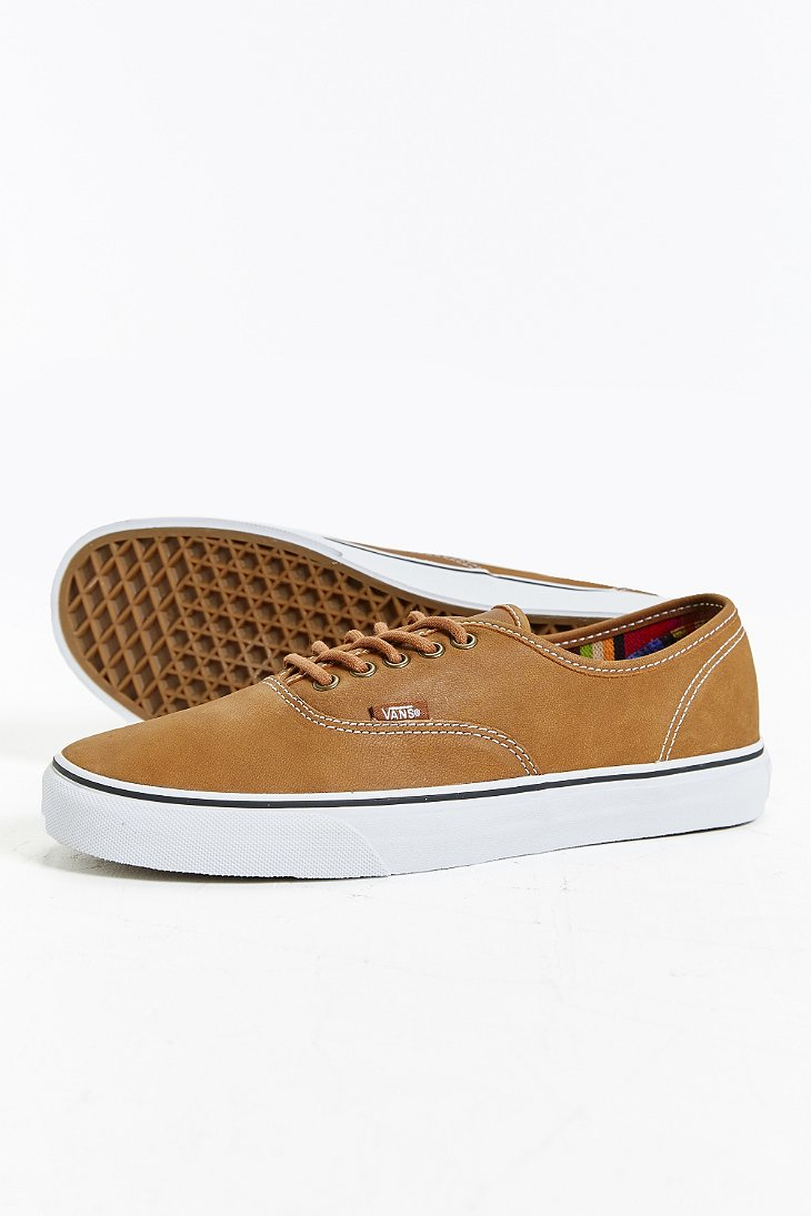 aa95a4e27737af Lyst - Vans Authentic Leather Sneaker in Brown for Men