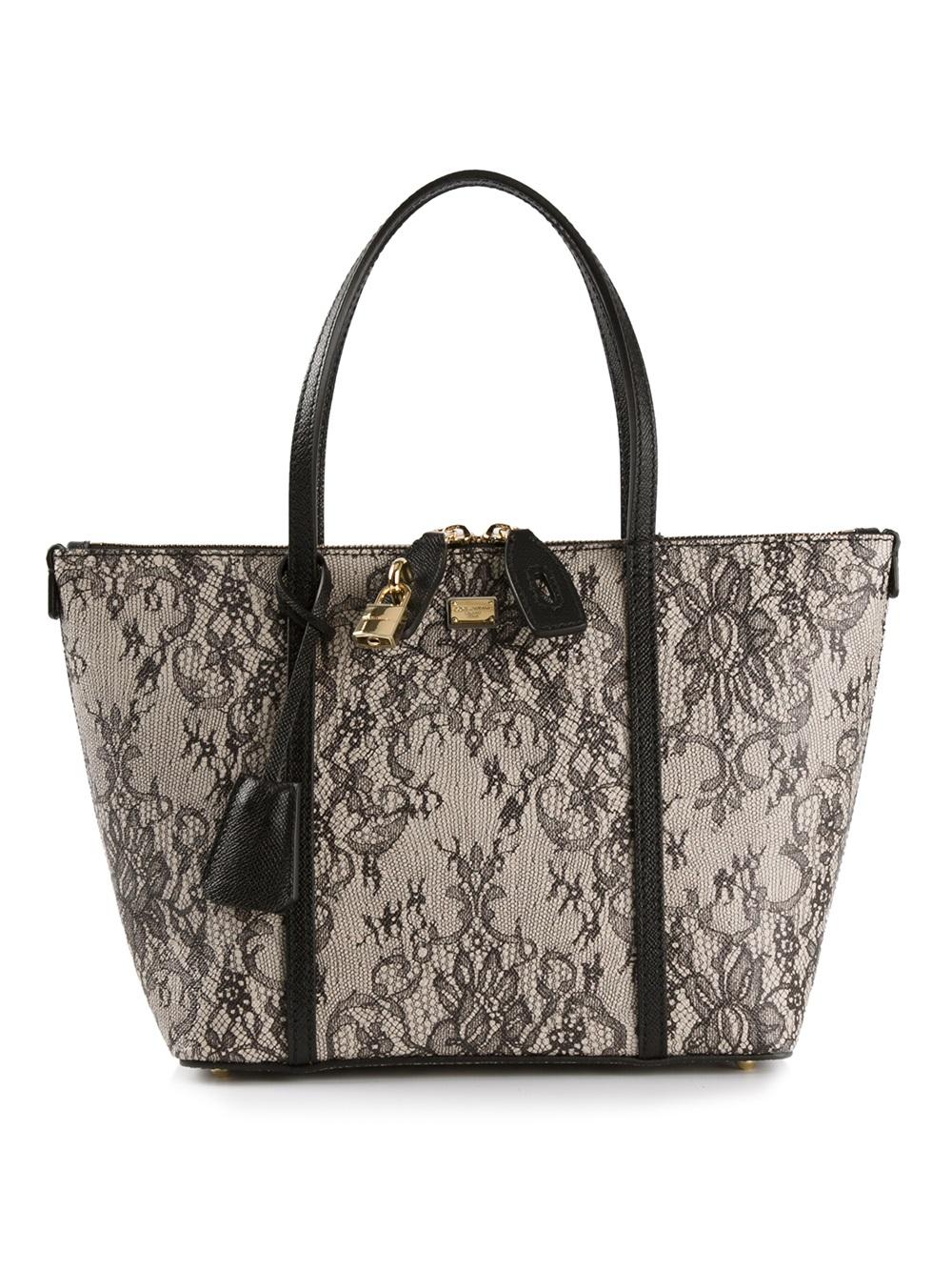 2e7d699383df 1000 x 1334 www.lyst.com. Lyst - Dolce  amp  Gabbana Lace Print Handbag ...