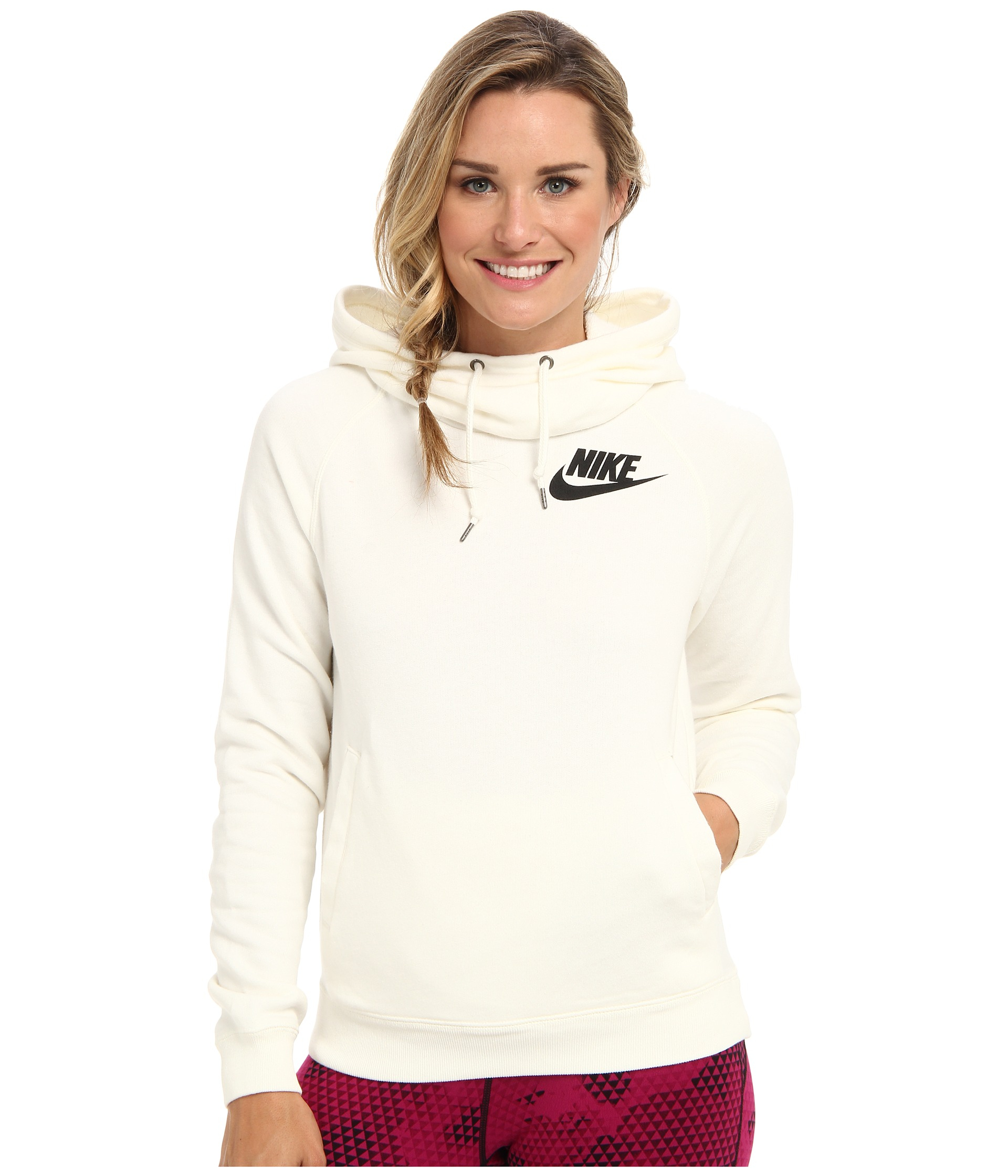 98831f2498e9 ... Lyst - Nike Rally Funnel Neck Hoodie in Natural  womens ...