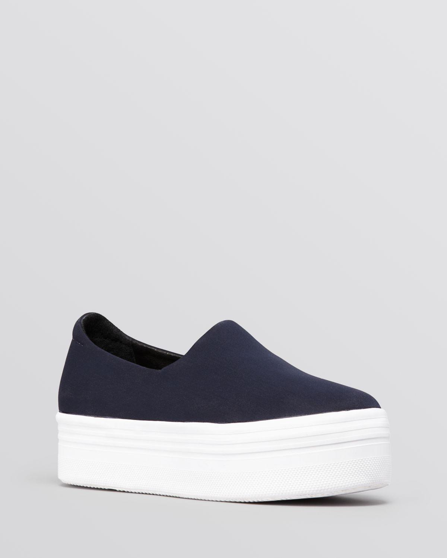 43fd77db4f05cf Lyst - Jeffrey Campbell Platform Slip On Sneakers - Hybrid in Blue