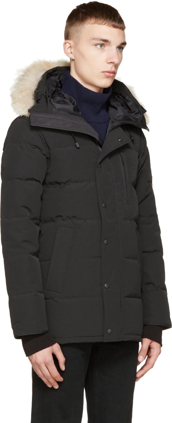 79b1aaaa2c6 Lyst - Canada Goose Black Down   Fur Carson Parka in Black for Men