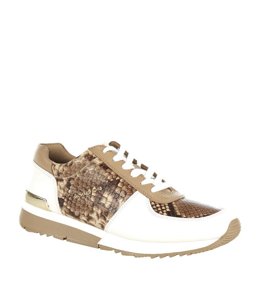 7919b367392 MICHAEL Michael Kors Allie Snake-effect Sneaker - Lyst