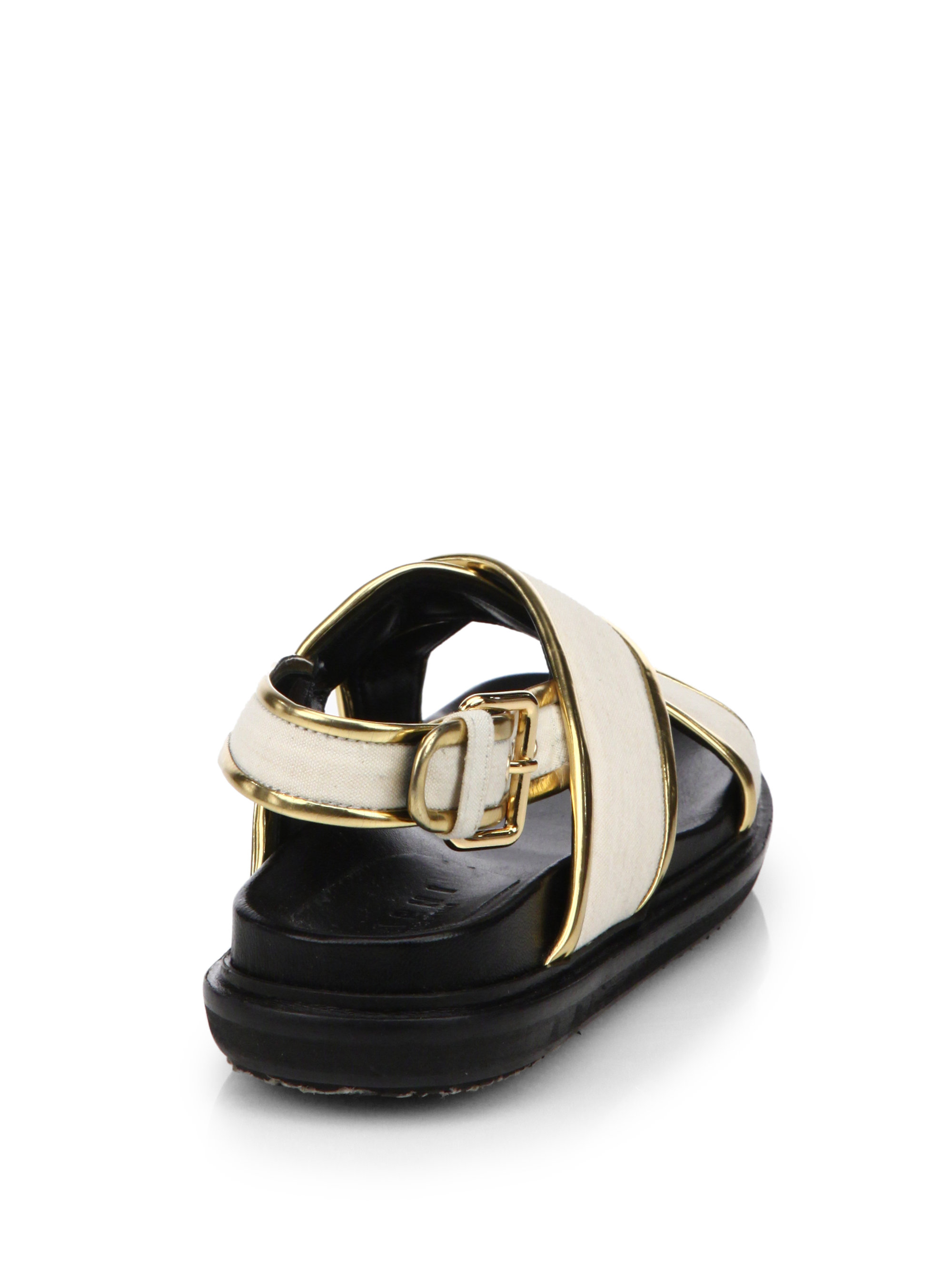 Marni Metallic Leather-Trimmed Sandals free shipping finishline buy cheap outlet store newest buy cheap real discount 100% authentic chfNfe7bY