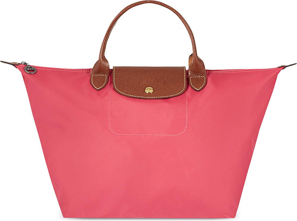 Longchamp le pliage medium handbag bonbon in pink lyst - Pliage serviette bonbon ...