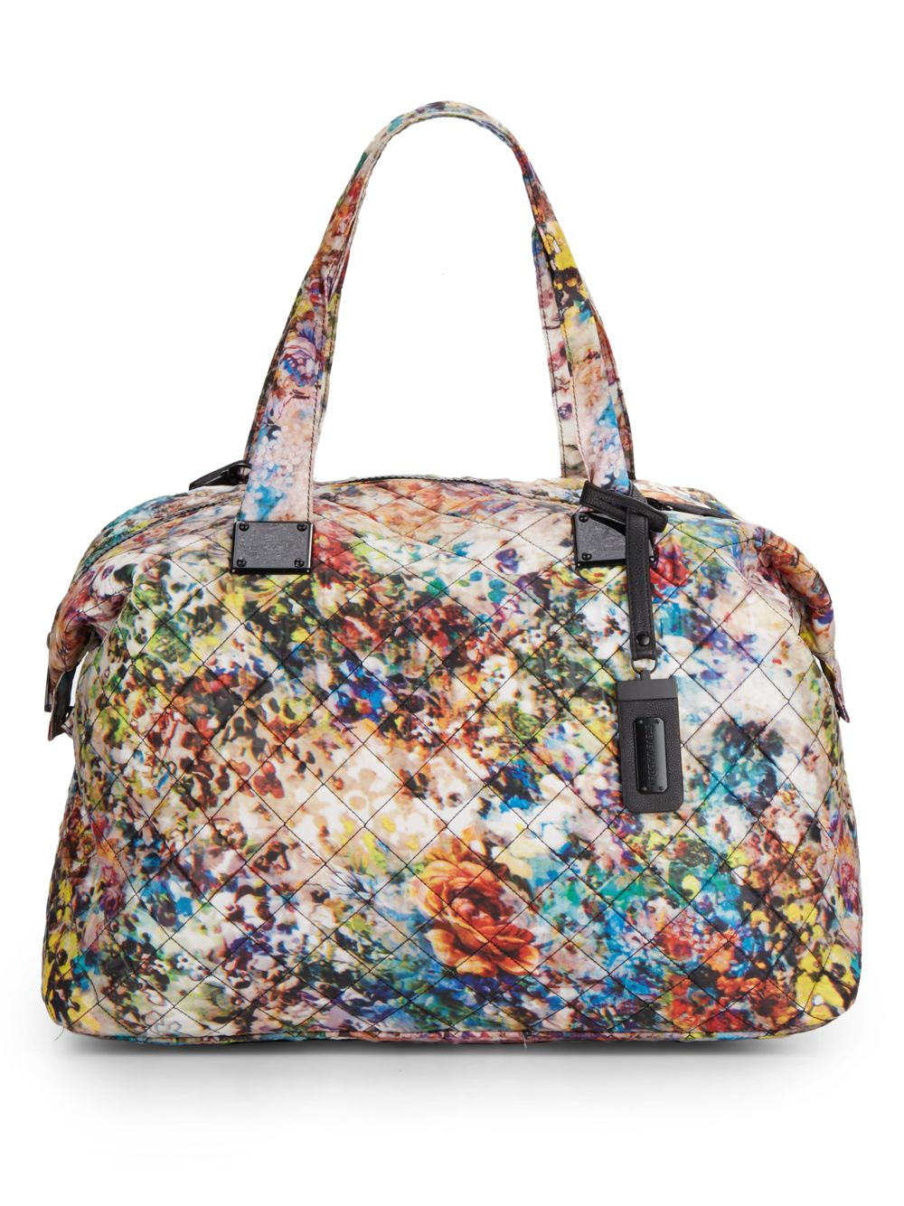 Lyst - Steve Madden Quilted Floral-print Duffle Bag In White